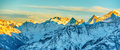 Panorama Of Mountains Peaks At...
