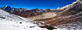 Panorama of mountains in sagarmatha national park view from chukkung ri hill meters the nepal himalaya Stock Photo
