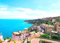 Panorama naples mediterranean sea italy Stock Photography