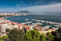 Panorama of Naples with Mount Vesuvius and the Bay Royalty Free Stock Photo