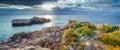 Panorama of nature reserve Piscina di Venere Royalty Free Stock Photo