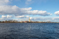 Panorama of the Neva river and the Peter and Paul fortress. Sunny April day. Saint Petersburg Royalty Free Stock Photo