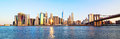Panorama New York City skyline Royalty Free Stock Photo