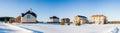 Panorama of Newly Built Suburban Houses Royalty Free Stock Photo