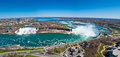 Panorama of the Niagara Falls Stock Images