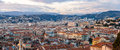 Panorama of nice town french riviera Royalty Free Stock Image