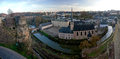 Panorama of the Old City of Luxembourg Royalty Free Stock Photo