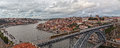 Panorama old city porto of the of and the river douro Royalty Free Stock Images