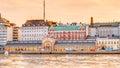 Panorama Of Old Market Hall Vanha kauppahalli In Helsinki At Summer Royalty Free Stock Photo