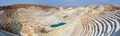 Panorama of an open quarry bentonite and kaoline in milos island greece Stock Photo