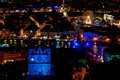 Panorama over lyon at night Royalty Free Stock Photo