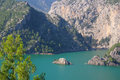 Panorama oymapinar dam reservoir on the river manavgat turkey Stock Images