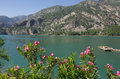 Panorama oymapinar dam reservoir on the river manavgat turkey Royalty Free Stock Image