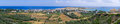 Panorama of Paleochora town on Crete, Greece Royalty Free Stock Photo