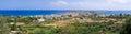 Panorama of Paleochora town on Crete, Greece Royalty Free Stock Photo