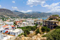 Panorama of Paleochora town, located in western part of Crete island, Greece Royalty Free Stock Photo