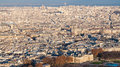 Panorama of Paris city with Luxembourg garden Royalty Free Stock Photo