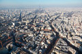 Panorama of Paris with eiffel tower at winter Stock Photography