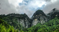 Panorama Paro valley Taktsang lakhang aka tigress nest monastery Bhutan Royalty Free Stock Photo