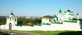 Panorama pechersky ascension monastery nizhny novgorod russia Royalty Free Stock Photo