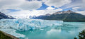Panorama of Perito Moreno Glacier in Patagonia - El Calafate, Argentina Royalty Free Stock Photo