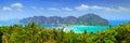 Panorama of Phi phi island, Krabi, Thailand. Royalty Free Stock Photo