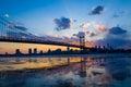 Panorama of Philadelphia skyline Royalty Free Stock Photo