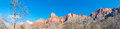 Panorama photo mountain ridge zion national park utah usa Royalty Free Stock Photo