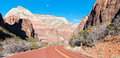 Road in Zion National Park Royalty Free Stock Photo