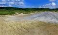 Panorama picture of a muddy vulcano errupting in buzau county paclele mari romania Stock Photos