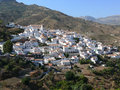 Panorama of picturesque white town Andalusia Spain Stock Photography