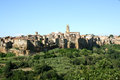Panorama of pitigliano tuscany italy a panoramic view the medieval old town in the province grosseto Stock Images