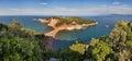 Panorama plaża w grecja Zdjęcia Royalty Free
