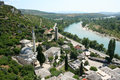 Panorama of pocitelj medieval town old in bosnia and herzegovina Stock Photography