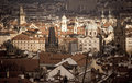 Panorama of Prague Royalty Free Stock Photo