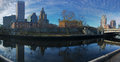 Panorama of the Providence city center Royalty Free Stock Photo