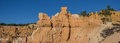Panorama of Queens garden trail in Bryce Canyon Royalty Free Stock Photo