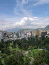 Panorama of Quito Royalty Free Stock Photography