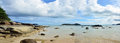 Panorama of rawai beach at sea in phuket thailand holds the distinction being the very first tourist on years ago people from town Stock Photos