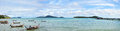 Panorama rawai beach at sea of phuket thailand is the southern tip it is much less touristy than nearby kata and patong beaches Royalty Free Stock Photo