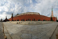 Panorama of red square on a summer day moscow russia Royalty Free Stock Images