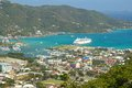 Panorama of Roadtown in Tortola, Caribbean Royalty Free Stock Photo