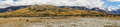 Panorama Rock of Middle Earth in mountains, New Zealand. Royalty Free Stock Photo