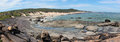 Panorama of Rocky beach Augusta West Australia Stock Photos