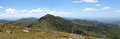 Panorama in Rodnei Mountains, Romanian Carpathians Royalty Free Stock Photo
