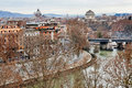 Panorama of rome from aventine hill italy Stock Photography