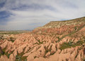 Panorama of rose valley in cappadocia Royalty Free Stock Photography