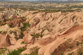 Panorama of rose valley in cappadocia at summer Stock Images
