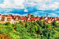 Panorama of Rothenburg ob der Tauber, Germany Royalty Free Stock Photo