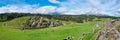 Panorama of Sacsayhuaman, Inca ruins in Cusco, Peru Royalty Free Stock Photo